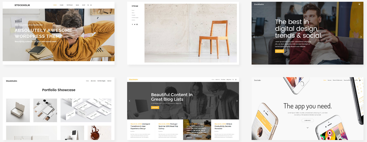 STOCKHOLM multipurpose wordpress theme