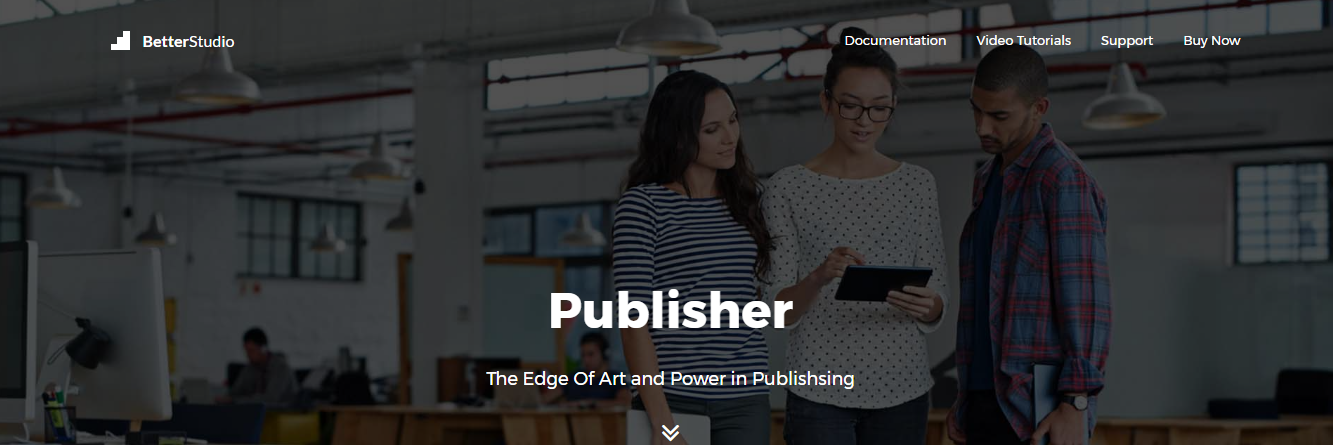 publisher magzine wordpress theme